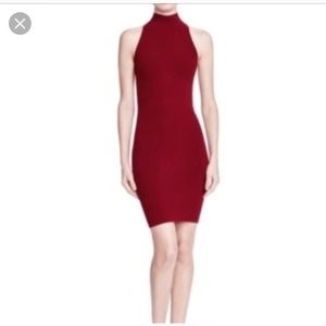 New Bloomingdales Red Bandage Sweater Dress S
